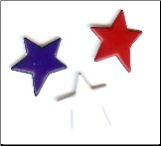 Primitive Star Brads - Red, White, Blue (25)