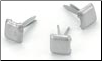 Square Mini Brads - Pewter (100)