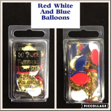Balloon Brads - Red, White & Blue (50)