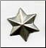 3D Star Brads - Pewter (50)