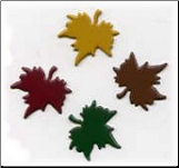 Fall Maple Leaf Brads - Asst. (50)