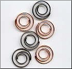 Spiral Mini Clips - Antique Bronze & Copper