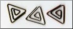 Triangle Mini Clips - Antique Asst.