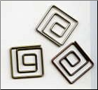 Square Clips - Antique