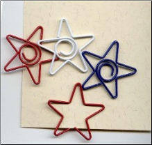 Star Spiral Clips - Red, White & Blue