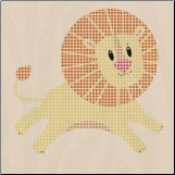 Wild Thing Studded Stickers - Lion