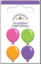 Balloons Braddies Brads - Bright