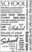 School Sentiments Rub-ons
