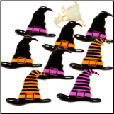Witch Hat Brads - Orange & Purple