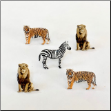 Zebra, Lion & Tiger Brads