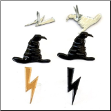 Wizard Hat & Lightning Bolt Brads