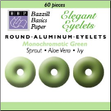 "60 Round 1/8"" Eyelets - Bazzill Green"